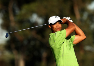 Tiger Woods played his first practice round on Tuesday.