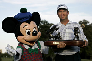 Davis Love III joined Tiger Woods, Phil Mickelson and Vijay Singh as the only active players with more than 20 wins.