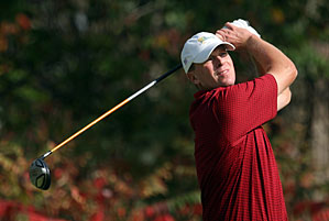 Steve Stricker won The Barclays for his first victory in more than six years.
