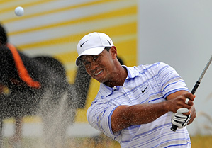 Tiger Woods has never lost three straight tournaments when having a share of the lead after 36 holes.