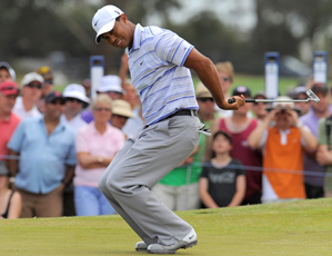 Tiger Woods made two birdies and two bogeys on Saturday.