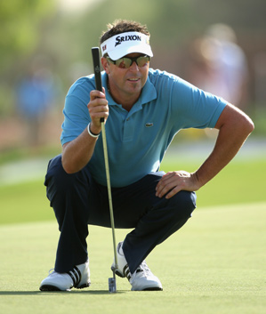 Robert Allenby made eight birdies and a bogey on Thursday.