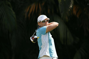 Annika Sorenstam shot rounds of 74-75 to miss the cut.