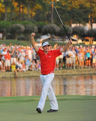 Rookie Keegan Bradley won twice in 2011, including the PGA Championship at Atlanta Athletic Club.