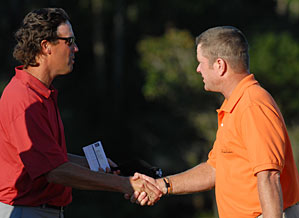 Scott Verplank, right, and Stephen Ames are tied for the lead.