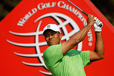 Tiger Woods shot an opening-round 68 on Thursday. He trails by three shots.