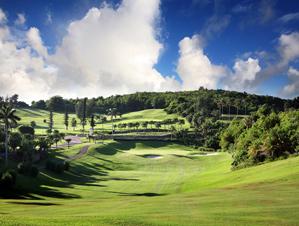 Island beauty: the 5th hole at Tucker's Point Club.