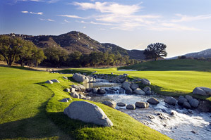 The Pechanga Creek creates a challenging risk-reward factor at the short par-4 fifth.
