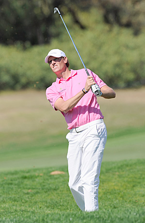 Maarten Lafeber of the Netherlands shot a 64 on Thursday to tie for the lead.