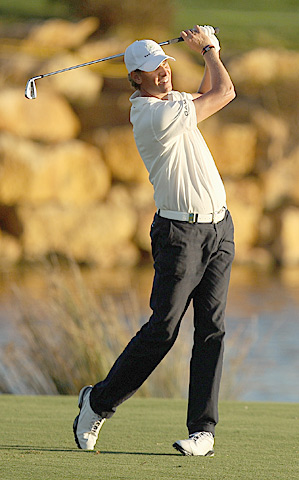Maarten Lafeber is looking for his second-career European Tour win after shooting 64 an 67 in the first two rounds to take a two-stroke lead.