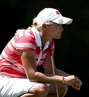 Suzann Pettersen shot a 4-under 68.