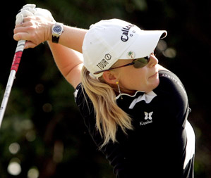 Morgan Pressel is tied for the lead and seeking her first win of the season.