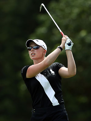 Morgan Pressel finished at eight under par.