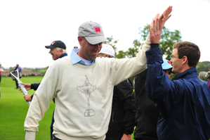 Stewart Cink drained several long putts Friday to spark the U.S. team.
