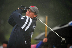 Phil Mickelson and Dustin Johnson struggled early in their match.