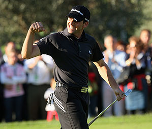 Sergio Garcia won the tournament by three strokes.