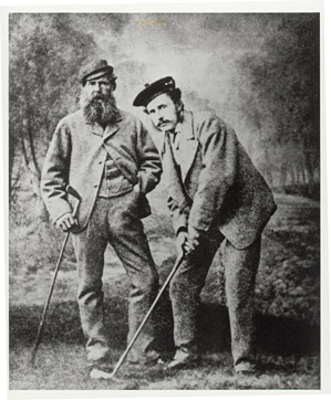Old Tom Morris (left), with son Young Tom Morris.