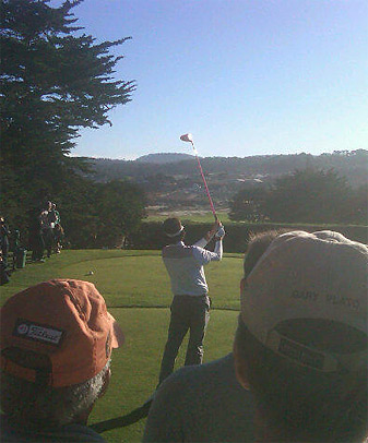 """Bubba Watson hit driver on the opening tee, and later said that he was trying to """"put on a show."""""""