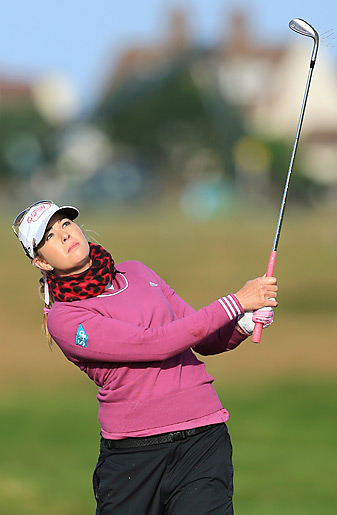 Paula Creamer shot a one-over 73 in the opening round at Hoylake.