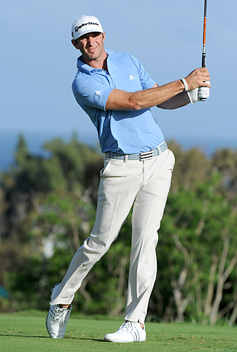 Dustin Johnson never lost the lead in the final round.