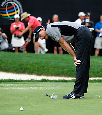 Among Furyk's lowlights from 2012: a missed bogey putt on the final hole at Firestone to lose by one shot.