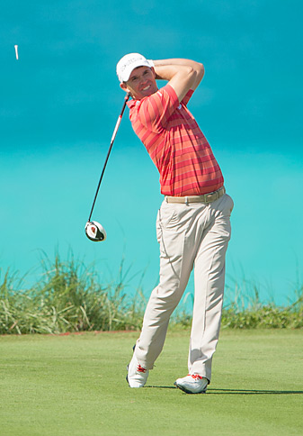 Padraig Harrington shot a 66 on Tuesday at the Grand Slam of Golf.