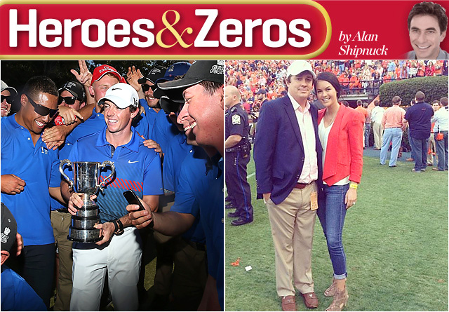 Rory McIlroy ended his victory drought, while Amanda Dufner's team lost a heartbreaker in the Iron Bowl.