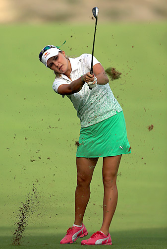 Lexi Thompson shot a 69 in the opening round at the Dubai Ladies Masters.