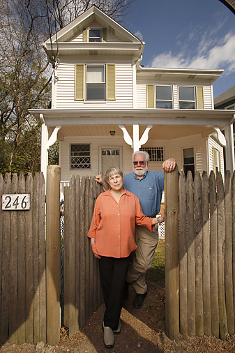 Jerome and Dedie Wieler have updated the exterior, but not much else has changed at 246 Clyde Street.