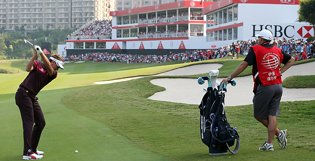 Ian Poulter won the 2012 HSBC Champions by two shots on Sunday.