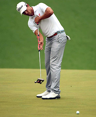 Adam Scott won the 2013 Masters and became the fourth player to win a major title while using an anchored putting stroke.