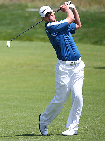 John Senden shot a 66 in the opening round in Australia.