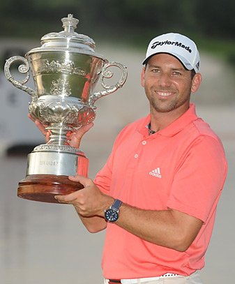 Sergio Garcia closed with a 61 to win the Johor Open.