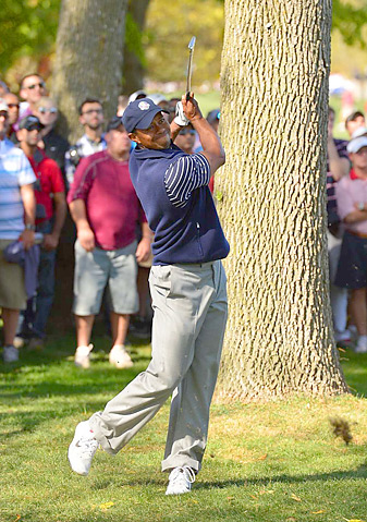 Tiger Woods went 0-3-1 at the 2012 Ryder Cup.