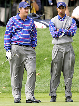 Mickelson and Woods went 0-2 as a team at the 2004 Ryder Cup and haven't played together since.