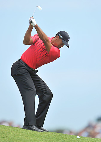 Tiger Woods entered the final round with a chance to win his fourth career claret jug, but a triple bogey on the sixth hole likely ended his chances.