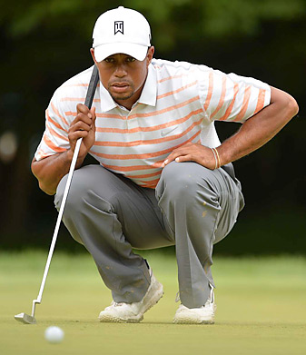 Tiger Woods hasn't played his best, but he still has a chance to win this weekend at Merion.