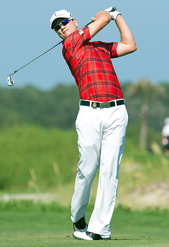 Zach Johnson won the Colonial despite receiving a bizarre two-shot penalty on the final hole.