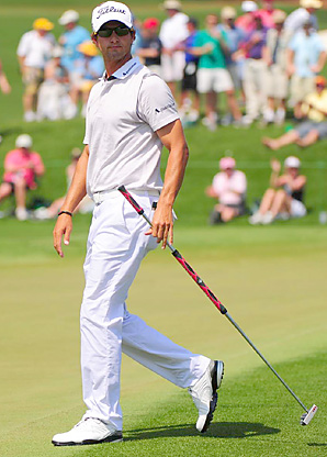 Adam Scott tied for second place at the Masters while using a long putter.