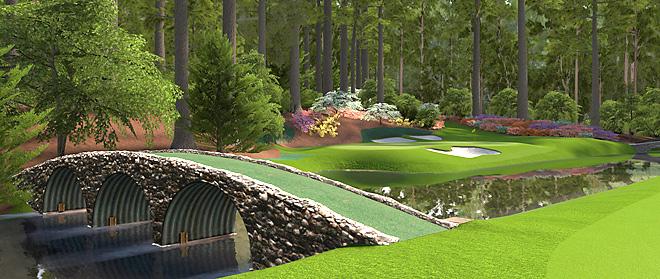 "A scene from Amen Corner on EA Sports's ""Tiger Woods PGA Tour '12."""