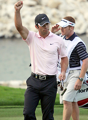 Paul Casey made a six-foot par putt for his first win in 20 months.