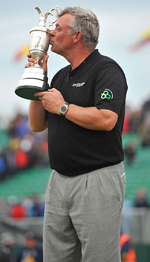 Darren Clarke won his first career major title at the Open Championship.