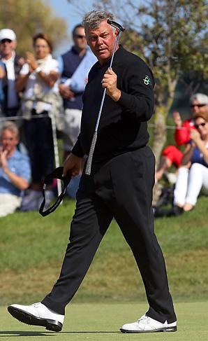 Darren Clarke earned his first European Tour victory since 2008.