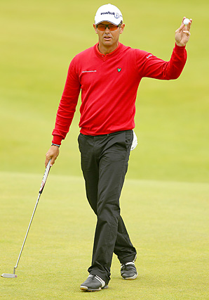 Andrew Coltart shot an opening-round 66 at St. Andrews.