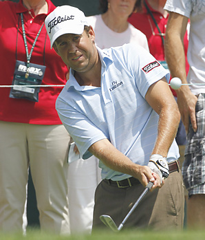 Erik Compton shot a 7-under 63 on Thursday to share the first-round lead with rookie Matt Every.