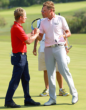 Luke Donald lost to Ian Poulter 2 and 1 in the Volvo Match Play final.