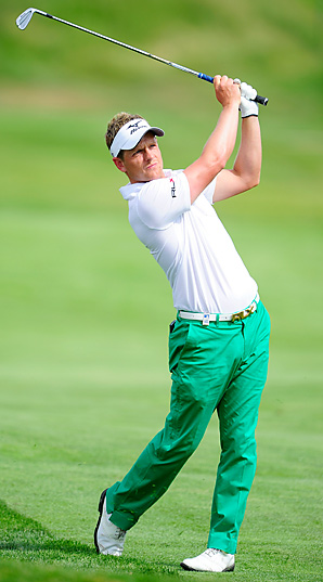 Luke Donald had two eagles Thursday on his way to a 7-under 65 in the first round of the Madrid Masters.