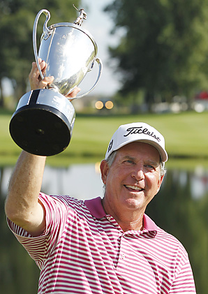 Jay Haas earned his first Champions Tour victory in two years.