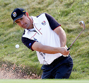 Padraig Harrington shot a 64 in his final competitive round before the Ryder Cup.