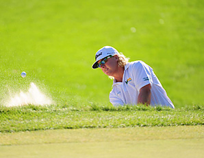 Charley Hoffman holed this bunker shot on his way to winning the Deutsche Bank Championship.